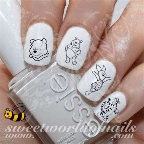 Winnie The Pooh Nail Sticker disney nail water decals and stickers 4