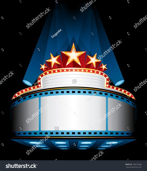 html images marquee illuminated cinema marquee stock vector 140272408