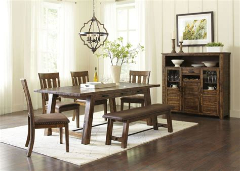 brown dining room cannon valley brown dining room set from jofran coleman furniture