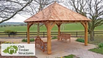 Solid Gazebo Solid Oak Garden Gazebo With A Cedar Shingle Roof 200mm X