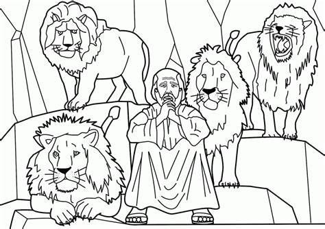 Daniel 6 Coloring Pages by Daniel And The Lions Den Coloring Page Coloring Home