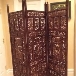 Wood Room Dividers by Antique Hand Carved Teak Wood Room Divider Screen Ebay