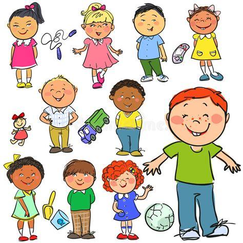 bambini clipart bambini clipart disegnato a mano illustrazione vettoriale