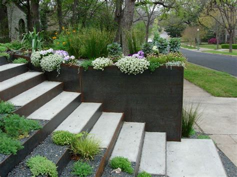 retaining wall flower bed ideas patio contemporary with