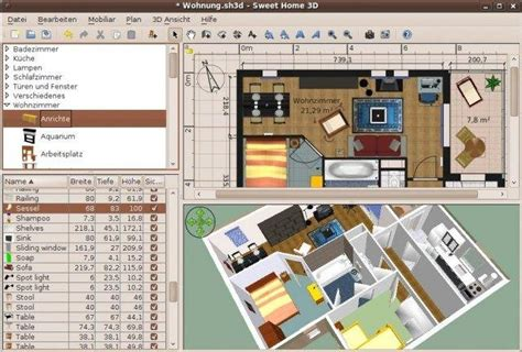 Free Floor Plan Layout Software by Sweet Home 3d Download Sourceforge Net