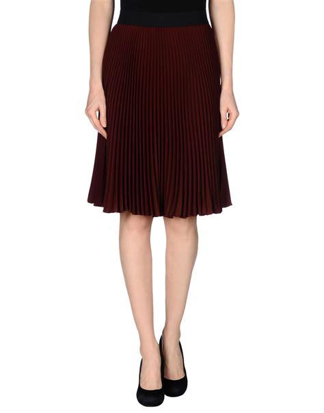 p a r o s h knee length dress p a r o s h knee length skirt in purple maroon lyst