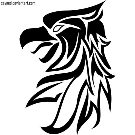 griffin tribal tattoo tribal griffin design by sayned on deviantart
