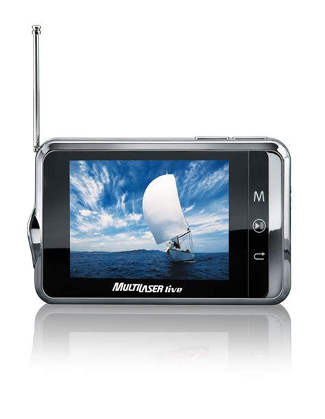 Tv Digital Mini multilaser lan 231 a mini tv digital leitor de e books e mp4 player adrenaline