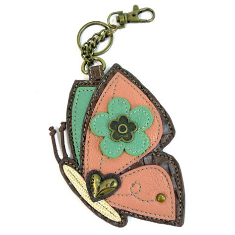 butterfly coin purse key fob