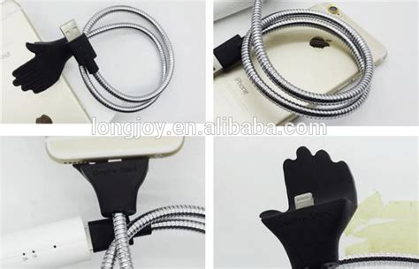 Android Metal Cable Charger Lazy Bracket lazy bracket metal for iphone android type c usb cable dock tripod phone holder