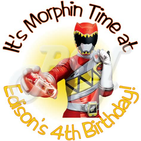 power rangers dino charge personalized stickers