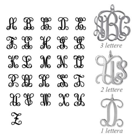 monogramma lettere anello con iniziali monogramma idee regalo originale