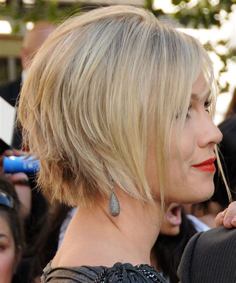 light and wispy bob haircuts jennie garth short straight formal bob hairstyle with side