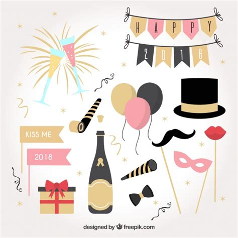 new year elements vector free collection of new year celebration element vector free