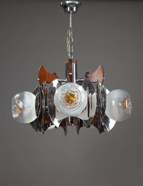 murano chandelier italian 1970s mazzega murano chandelier