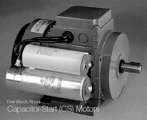 single phase ac motor with capacitor few words about capacitor start cs motors eep