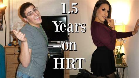 transgender hormone body changes 1 5 years on hrt mtf transgender timeline youtube