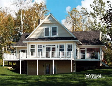 lake front home plans luxurious panoramic chalet with great room drummond house plans
