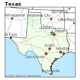 justin map best places to live in justin