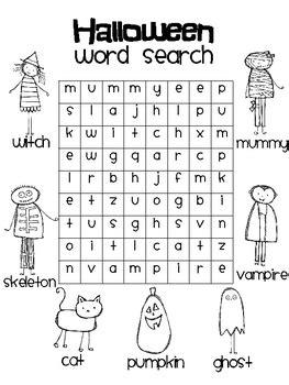 decorar palavras em ingles halloween word search by rachelle smith teachers pay