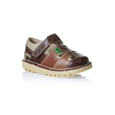 Kickers Soft Brown kickers kick sundal infant brown a sun sational choice for warmer weather