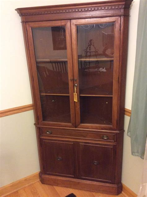 John M Smyth Corner China Glass Cabinet Or Hutch I Just Inherited This From    My Antique