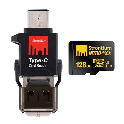 Micro Sd Strontium Nitro Plus 16g 4k Class10 Uhs 1 U3 Murah Dan Handal strontium nitro 466x microsdxc card type c card reader