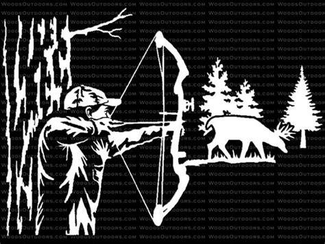 bow window decals ambush bow whitetail deer window decal