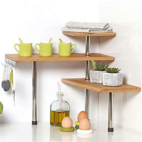 mensola angolare cucina mensola scaffale angolare cucina 3 ripiani legno bambu e