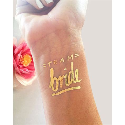 Tattoo Parlour Afterpay | single team bride gold foil tattoo the gilded pear
