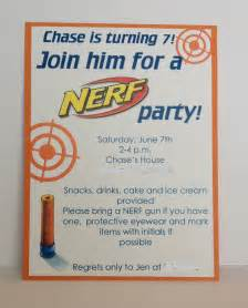 nerf birthday invitation inspired by hue