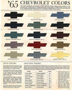 chevrolet truck color chart autos post
