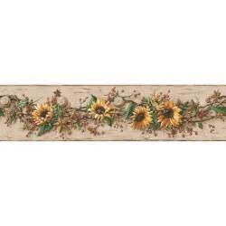 Harley Davidson Wall Murals discount wallcovering sunflower with berries border hht047