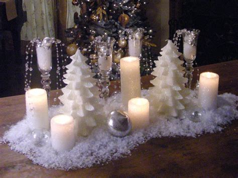 elagant christmas table tops in white theme how to create a snowy candle centerpiece hgtv