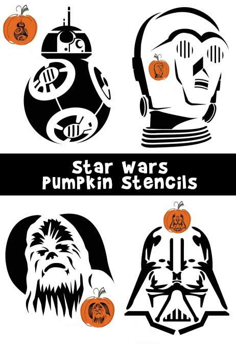 free printable pumpkin stencils star wars star wars pumpkin stencils woo jr kids activities