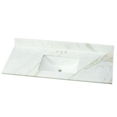 home decorators collection 49 in w marble single basin