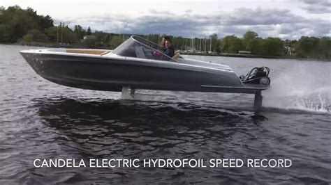 hydrofoil boat fin candela electric hydrofoil speed record youtube