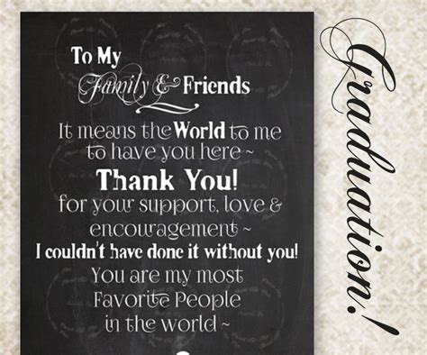 Thank You Note Quotes For Graduation Graduation Chalkboard Sign Custom Thank You College