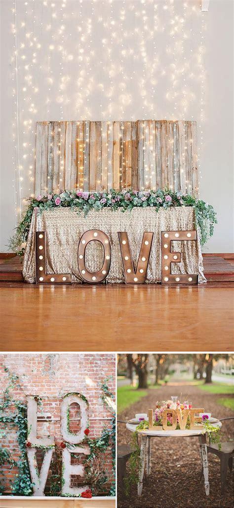 decorar la boda decora tu boda utilizando letras love