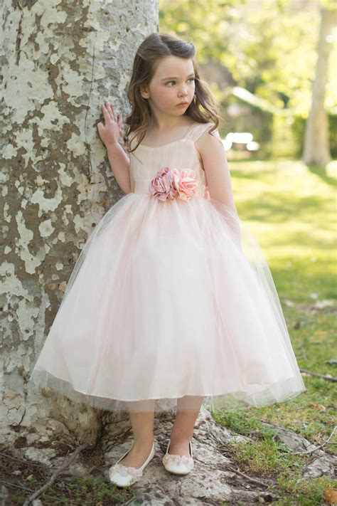 design flower girl dress online blush pink custom flower girl dress princess ball gown for