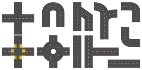 printable road pieces carreteras descargar vectores premium