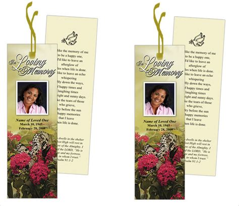 Funeral Bookmark Template   22  Free PSD, AI, Vector EPS