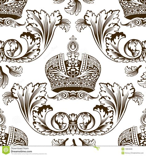 new seamless decor imperial ornament royalty free stock