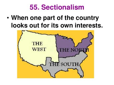 definition sectionalism staar review social studies 2013