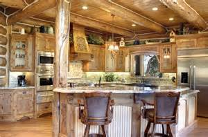 Log home living in big bear rustic kitchen los angeles by