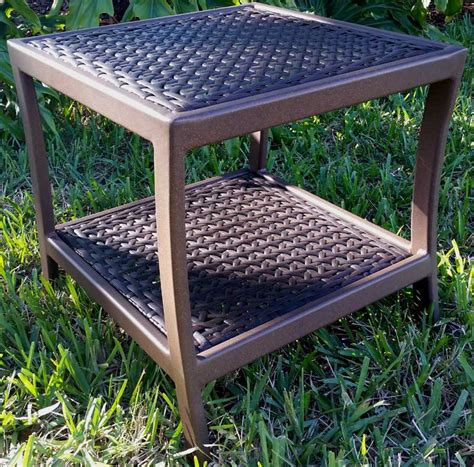 wicker patio table wicker side table