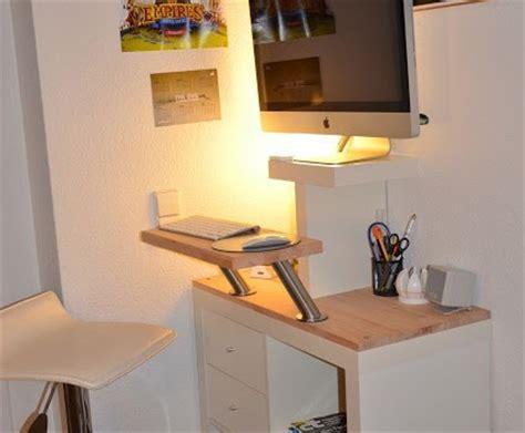 imac standing desk mr t another imac standing desk ikea hackers ikea