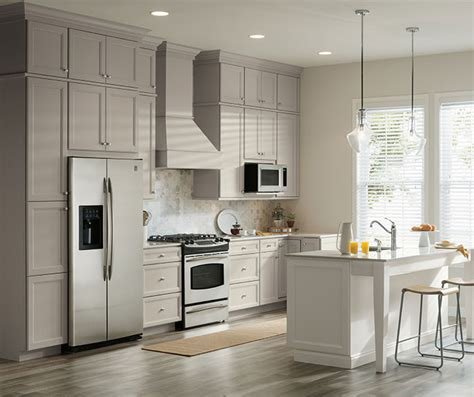 Kitchen Cabinets Aristokraft by Gray Amp White Cabinets In Two Tone Kitchen Aristokraft