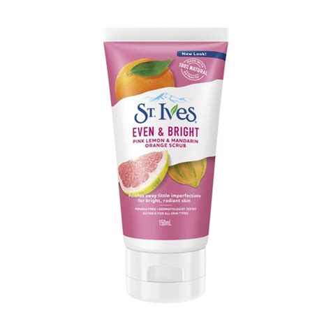 St Ives Even And Bright Pink Lemon And Mandarin Orange Wash 24oz st ives 150ml even bright pink lemon mandarin scrub kmart