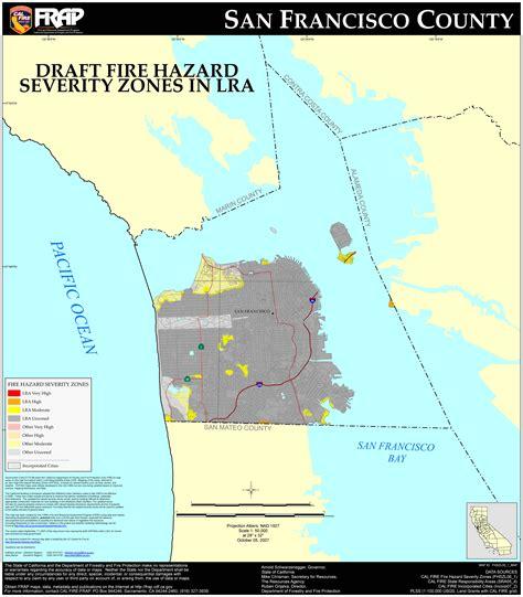 San Francisco County Property Records Cal San Francisco County Fhsz Map